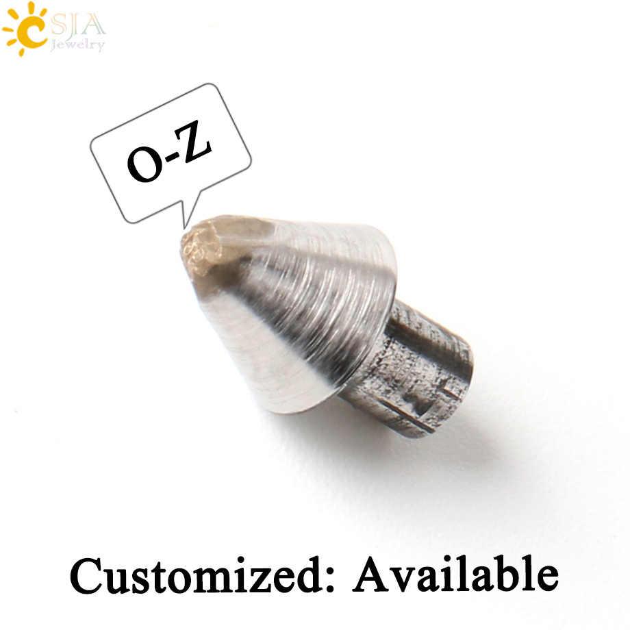 CSJA ใหม่ O P Q R S T U V W X Y Z เดี่ยว Mark เครื่องมือ AAA เหล็กแม่พิมพ์สำหรับเครื่องประดับทำแหวนกำไลข้อมือที่กำหนดเองแสตมป์เครื่องมือ E538