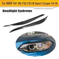 Eyebrows for BMW F87 M2 F22 F23 220i 228i M235i M Sport Coupe 2 Door 2014 2018 FRP Dry Carbon Fiber Headlight Covers Eyelids