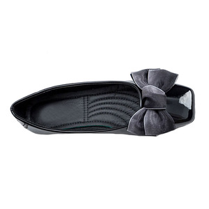 Image 2 - BEYARNENew 2019 אופנה נעלי נשים שטוח העקב רך אחת נעלי פרפר קשר אלגנטי נשים של דירות גבירותיי מותג בתוספת SizeE170