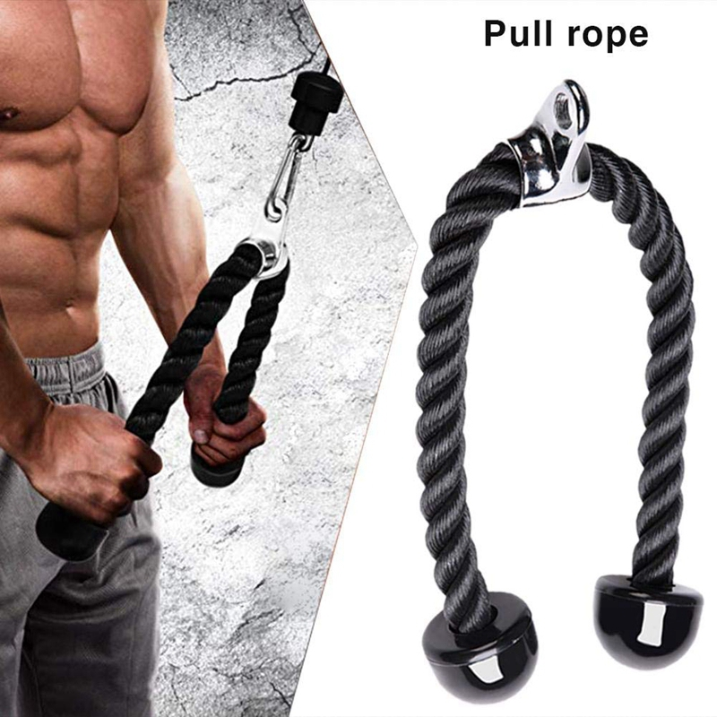 Fitness Equipment Nylon Drawstring Biceps Drawstring Triceps Drawstring For Exercise Triceps, Biceps, Back, Shoulder And Abdom