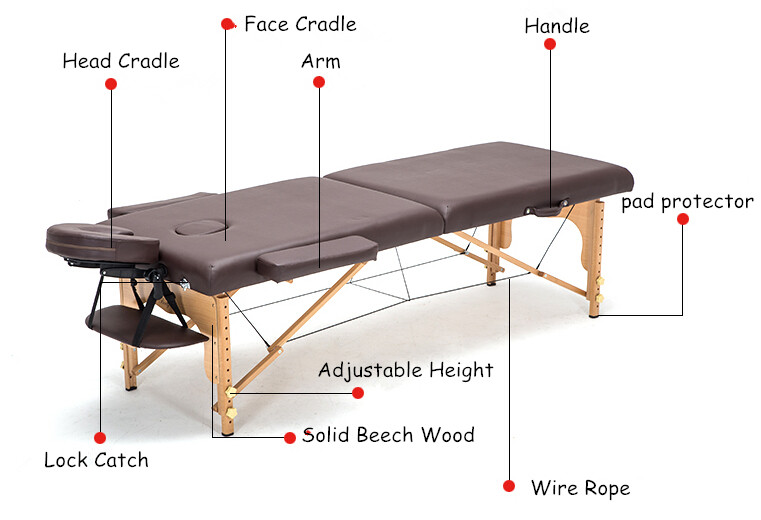Profesional Portable Spa Massage Tables dilipat dengan Carring Bag - Perabot - Foto 4