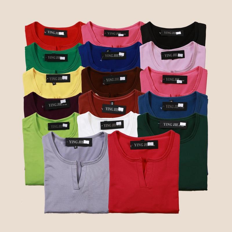 New 2017 Winter T Shirt Women Tops Long Sleeve V-neck Casual Basic T-shirt High Elastic Bottoming T-shirts Poleras Mujer YJ813