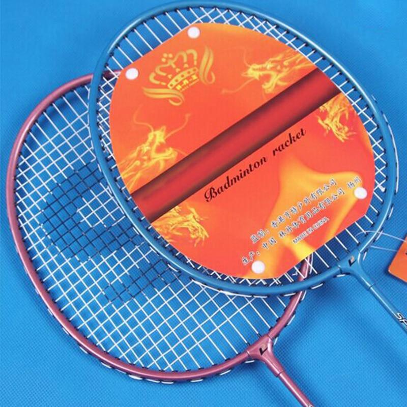 JUNRUI 100% D'origine Plein Badminton De Carbone Raquette Raquette De Badminton Raquettes Lumière Poids Carbone Sport Costume pour Les Débutants LD208