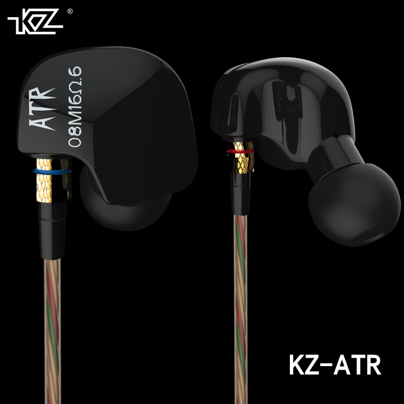 KZ ATR In Ear HIFI Earphone Supper Bass Headphones Stereo Music Headset Phone Earbuds fone de ouvido Auriculares With Microphone uiisii hi905 professional hifi in ear earphone super bass stereo music headset with microphone fone de ouvido for mobile phone