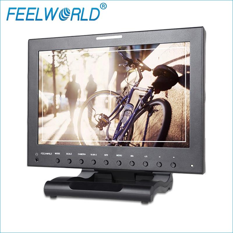 P121-9HSD 12.1 Inch Metal Broadcast Monitor with 3G-SDI HDMI Composite Component Feelworld 12.1inch Desktop Monitor LCD Monitors