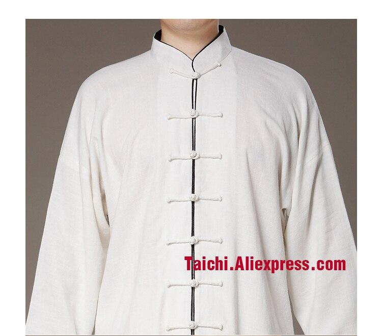 ①Lino tai chi uniforme Taiji rendimiento ropa otoño verano Lino ...