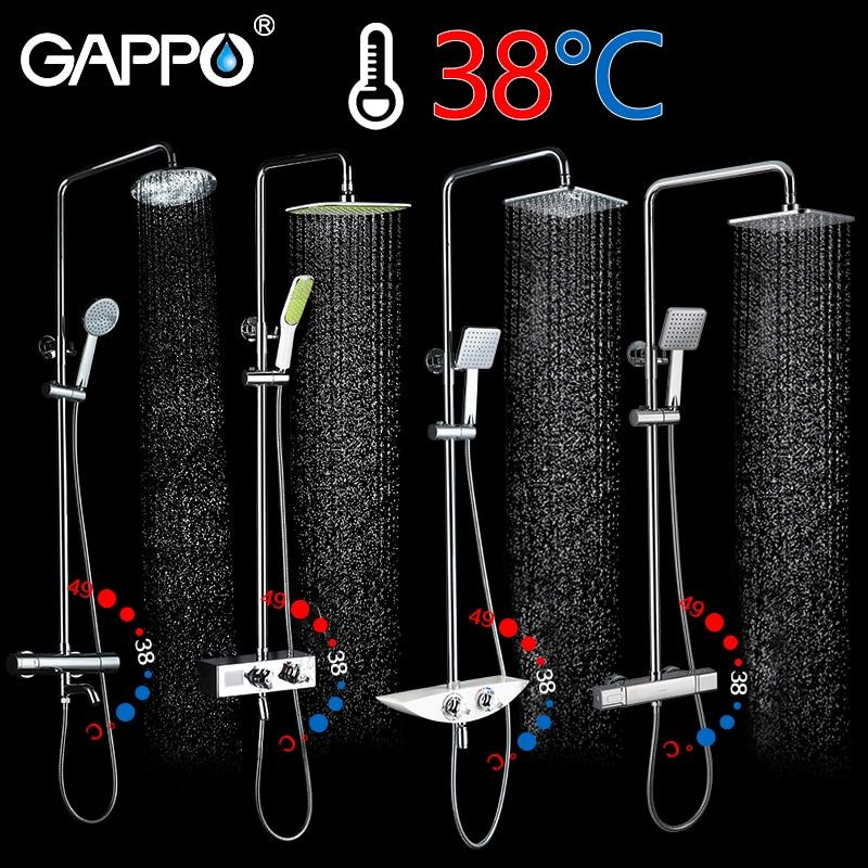 GAPPO Dusche System bad dusche thermostat wasserhahn wasserhahn wasserfall thermostat dusche mixer mit dusche armaturen