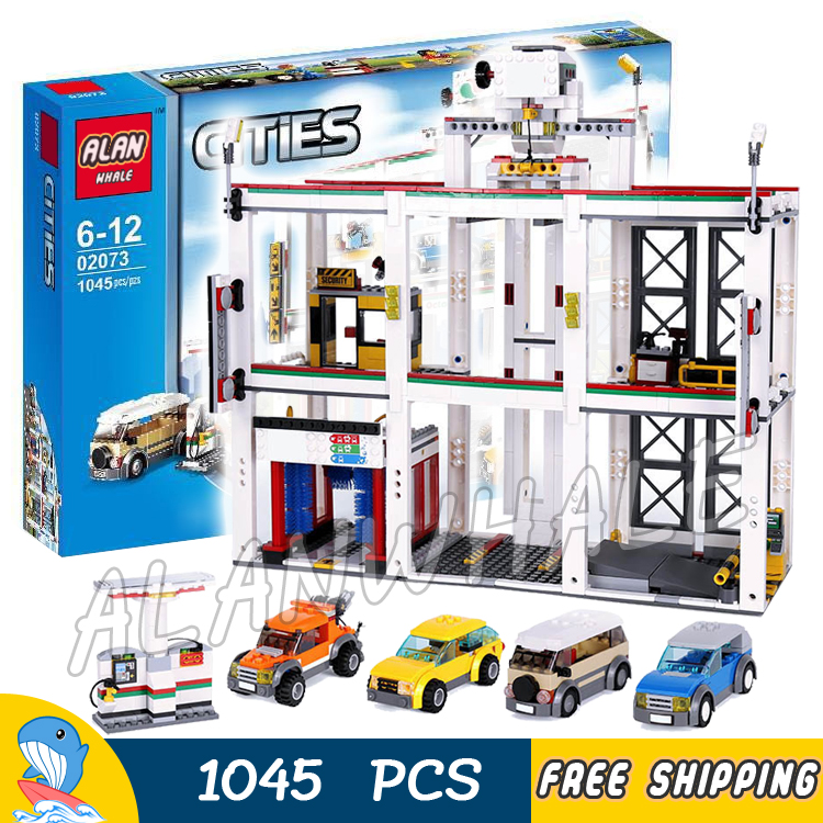 1045pcs New City Garage Cars Vehicle Maintenance 02073 Model Building Blocks Children Toys Bricks Compatible With lego lepin 02012 city deepwater exploration vessel 60095 building blocks policeman toys children compatible with lego gift kid sets