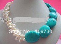 Jewelry Genuine Natural White Baroque Pearl Necklace