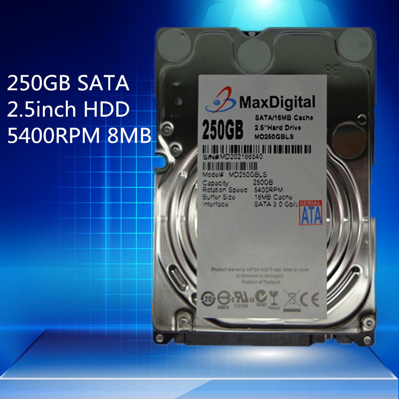 2 5inch HDD 250GB 5400Rpm 8M Buff SATA Internal Hard Disk Drive For Laptop Notebook