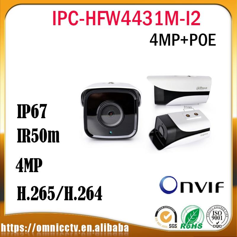 DaHua CCTV 4MP POE IP Camera IPC-HFW4431M-I2 H.265 IP67 80m IR Onvif Night Vision Outdoor Bullet Surveillance Security Camera dahua motorized lens 2 7mm to 12mm ip camera ipc hfw2320r zs 3mp poe cctv ip camera ir 30m day night vision security ip camera