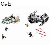 75150 Vader Tie Advanced VS A Wing Starfighter 722 Pcs Mini Bricks Set Sale Star Building