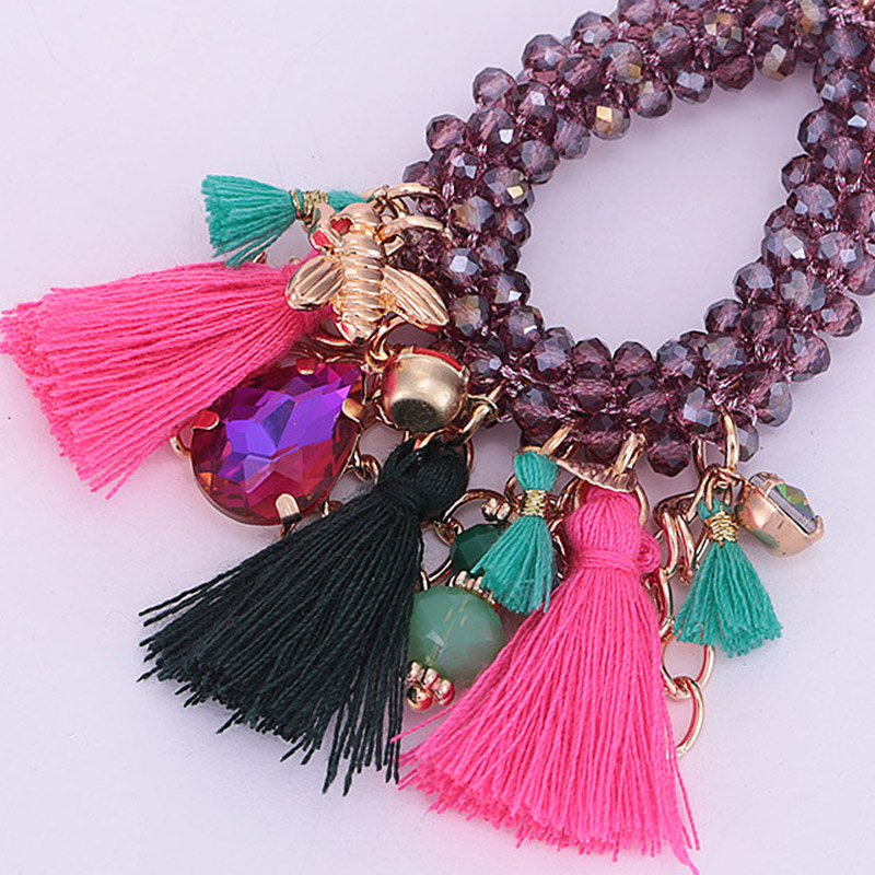Choker necklace for woman boho Pendientes woman necklace tassel necklace (15)