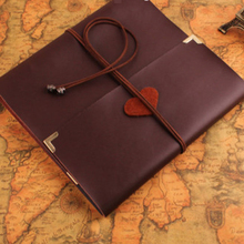 Best selling classic real cowhide DIY album book leather case loose-leaf notebook diary travel magazine sketch plan