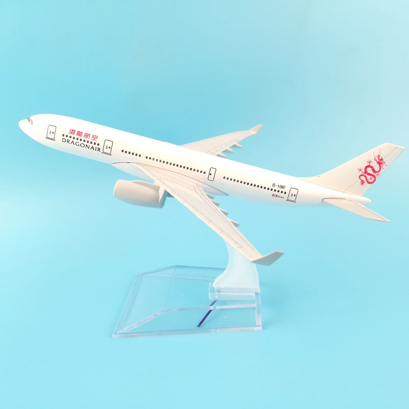JASON TUTU 16cm Plane Model Airplane Model  Dragonair Boeing 747 Aircraft Model 1:400 Diecast Metal Airplanes Plane Toy Gift