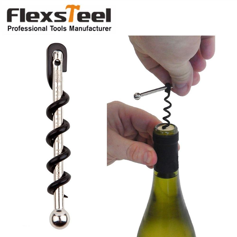 Flexsteel True Utility TU48 Twistick Pocket Multi Functional Stainless Steel Key Ring Keychain Wine Bottle Opener Corkscrew steel corkscrew opener