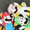 Новое прибытие 3 шт./лот Super Mario Bros 22 см Летающий Енот Tanooki Марио Луиджи Летающие Плюшевые подвеска Куклы