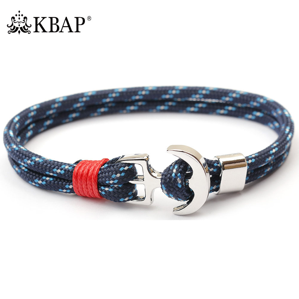 2018 New Nautical Charm Anchor Rope Bracelet Bangle Wristband for Women Men Fashion Jewelry Accessories Favor Gifts Bracelets