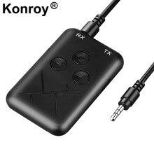цена на 2 In 1 Bluetooth AUX Mini Audio Receiver Bluetooth Transmitter 3.5mm Jack Handsfree Auto Bluetooth Car Kit Music Adapter AUX