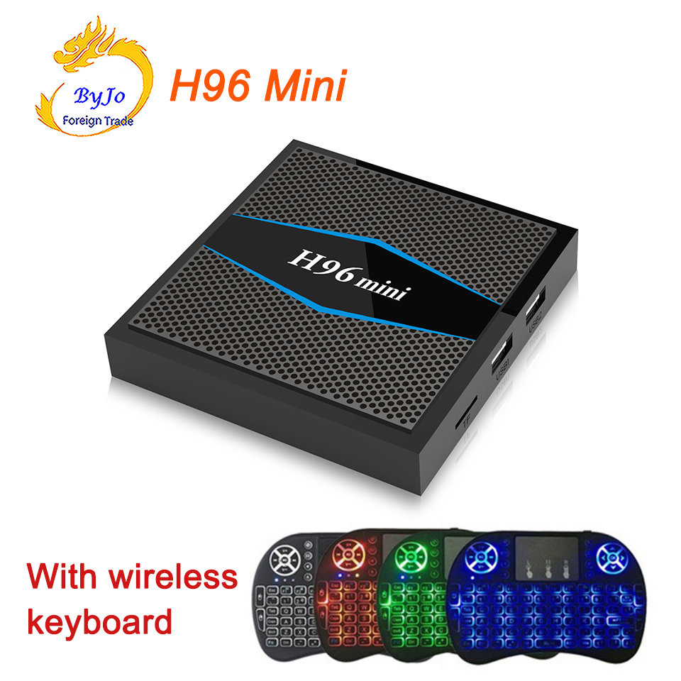 Newest H96 Mini 4K box 2.4G 5GHz Wifi Bluetooth set Top box Smart tv box android 7.1 Android tv box Amlogic S905W 2G 16G beelink tx95w tv box amlogic s905w cpu mali 450 gpu support 2 4g wifi bluetooth 4 0 tv set box android tv box 2g 16g memory