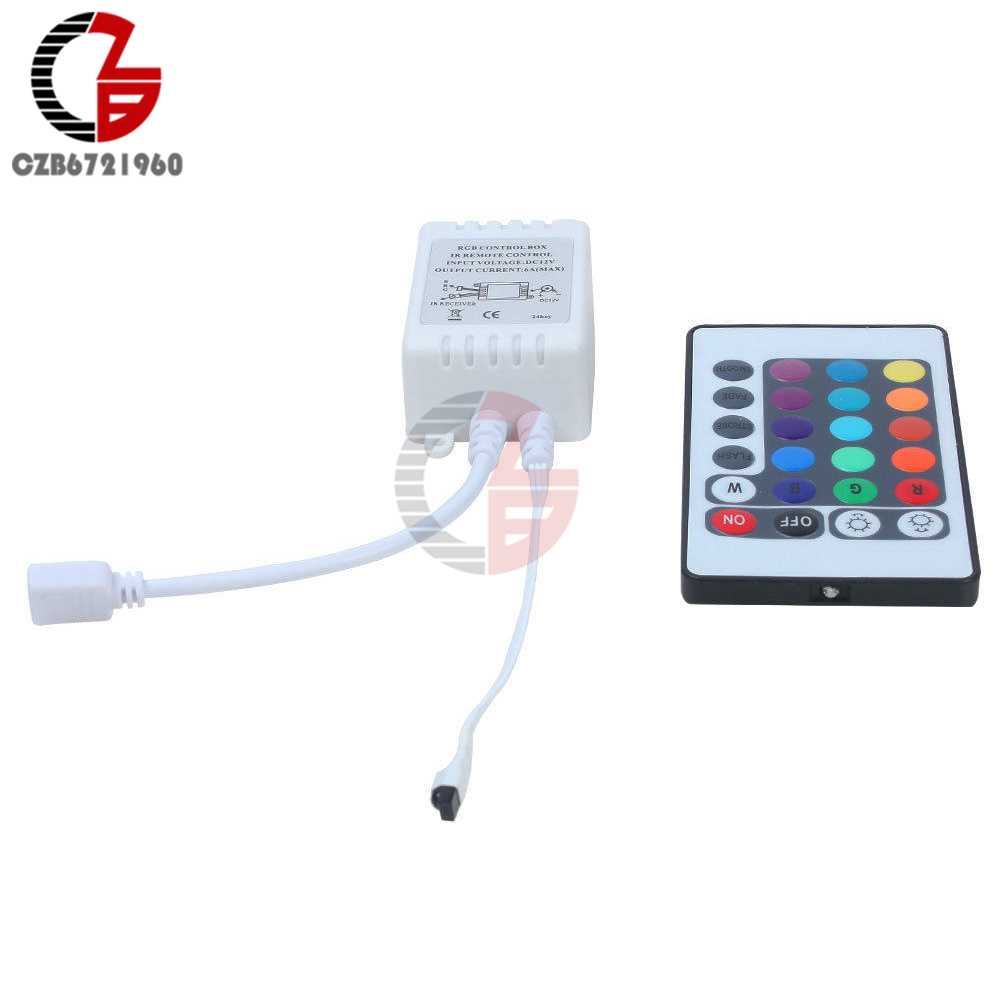 24 Keys Wireless RGB LED Light Controller Ir <font><b>Remote</b></font> <font><b>12V</b></font> <font><b>Dimmer</b></font> for LED Strip image