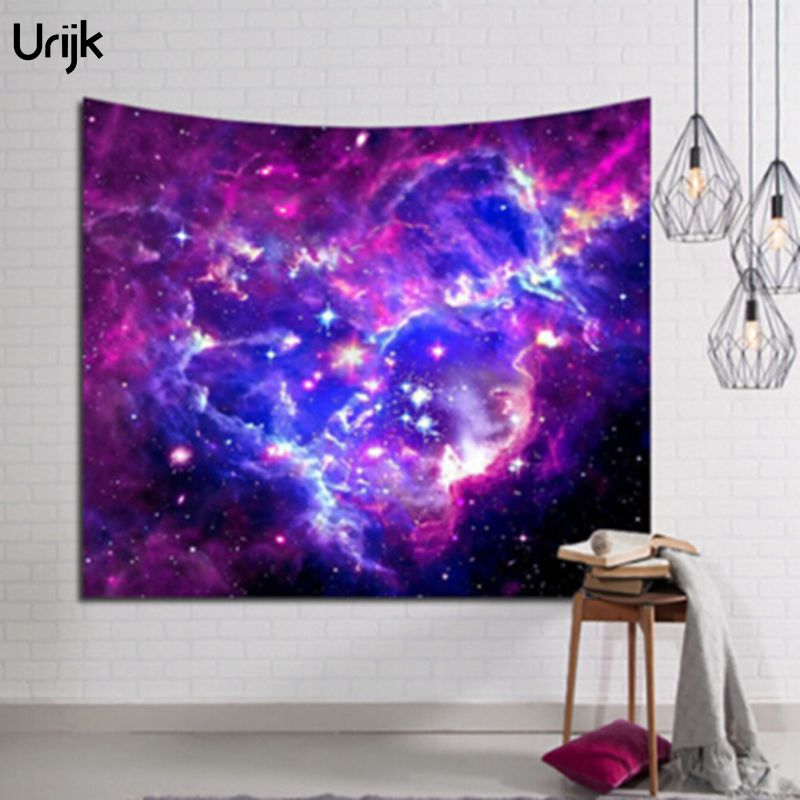 Urijk 1PC Wall Hanging Tapestry Top Quality Polyester Starry Sky Printed Hippie Amazing Graceful Tapestry for Living Room Decor
