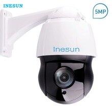 Inesun PTZ IP Camera 5MP Super HD 2592×1944 Pan/Tilt 30x Optical Zoom Outdoor High Speed Dome Camera 120m Laser IR Night Vision