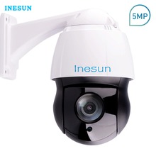 Inesun PTZ IP Camera 5MP Super HD 2592×1944 Pan/Tilt 30x Optical Zoom Outdoor High Speed Dome Camera 120m Laser IR Night Vision