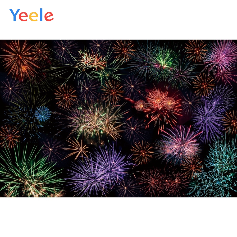 Yeele Wallpaper Party Festival Wedding Fireworks Photography Backdrops Personalized Photographic Backgrounds For Photo Studio in Background from Consumer Electronics