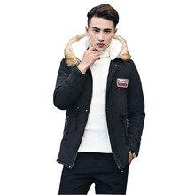 Parka Men Coats Winter Jacket Men Slim Thicken Fur Hooded Outwear Warm plus size 4XL Coat Casual Mens Coat Homme Tops w561