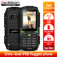Ioutdoor T1 頑丈な携帯電話防水 IP68 耐衝撃 FM ラジオ 2 SIM カード Led 懐中電灯 GSM ロシアキーボード携帯電話