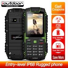 Ioutdoor T1 Robusto Telefono Cellulare Impermeabile IP68 Antiurto Radio FM 2 SIM Card Ha Condotto La Torcia Elettrica di GSM del telefono Cellulare Tastiera Russa