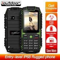 ioutdoor T1 Rugged Mobile Phone Waterproof IP68 Shockproof FM Radio 2 SIM Card Led Flashlight GSM Russian Keyboard Cell phone