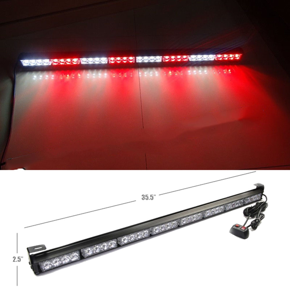 12V 32LED Car Auto Emergency Warning Flash Work Light Bar Hazard White and Red LED Strobe Running Lights for Cars remote sensing and gis application in flash hazard studies