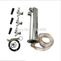 stainless steel Triple beer tower with faucets Draft Beer Tower