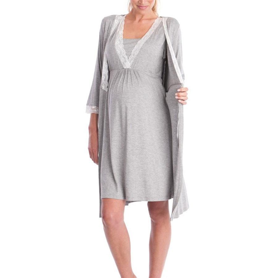 Maternity Dress Nursing Clothes Women Mother Knee-Length Cotton Pregnant Dress Casual Maternity Nursing Dress Pregnancy Clothing