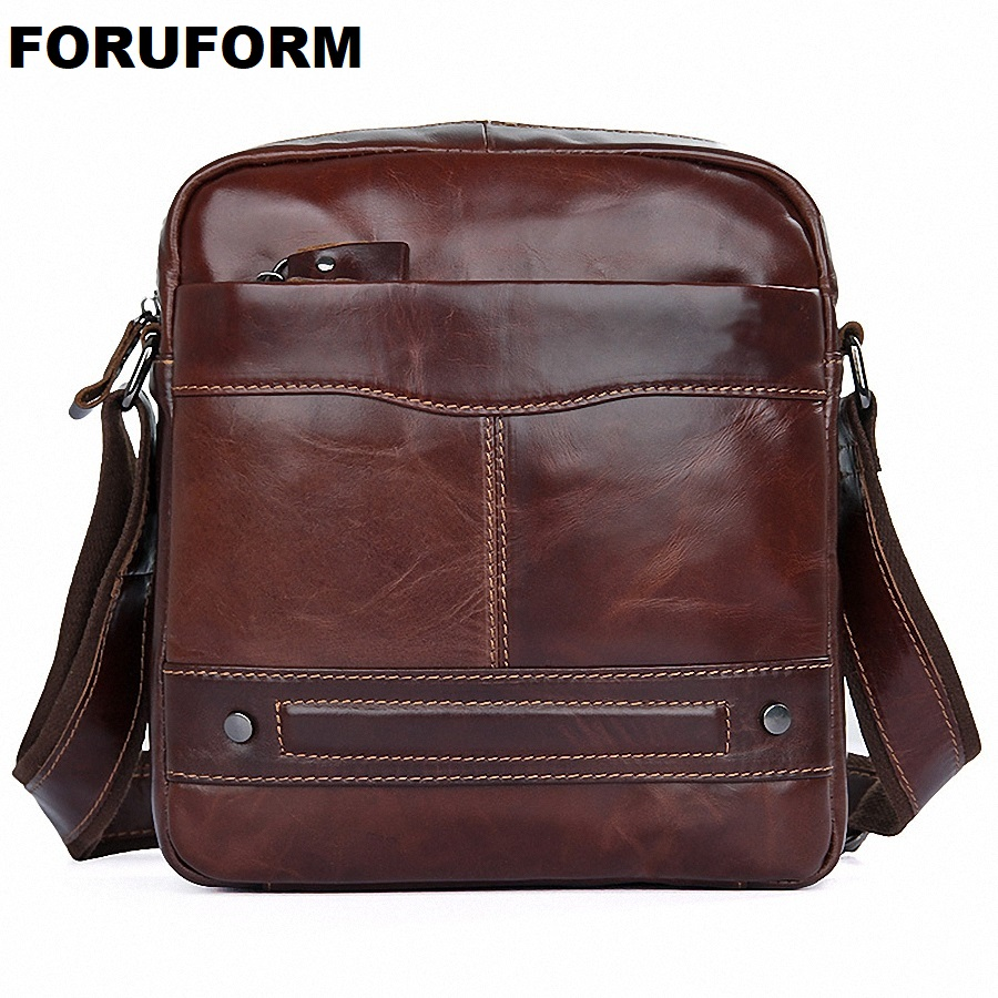 100% Genuine Leather Men Messenger Bag Casual Crossbody Bag Business Men's Handbag Bags For Gift Shoulder Bags LI-1918 casual canvas women men satchel shoulder bags high quality crossbody messenger bags men military travel bag business leisure bag