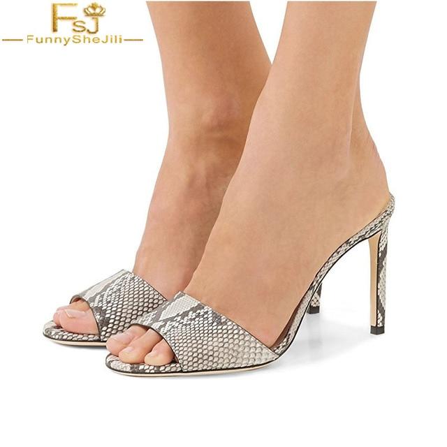 7136af39ba3 FSJ Casual Ladies Shoes Peep Toe Mules Unicorn Sandals Stiletto Women High Heels  Slippers Shoes Indoor zandalias de verano mujer