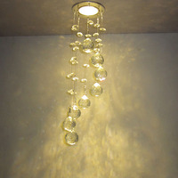 Modern Crystal LED 1W Living Room DownLights Cabinet Porch Hallway Down Lamps Lighting Pendant Lights Fixtures