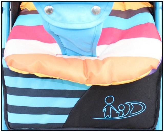 2016 New Baby Stroller Seat Cushion Cotton Stripe Baby Car Waterproof Pad Stroller Accessories Pram Rainbow Cotton Thick Mat
