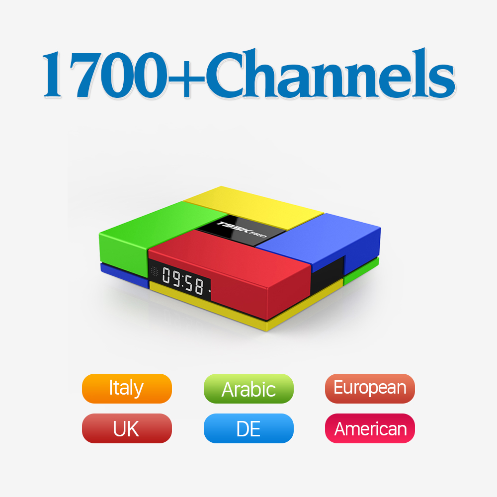 T95K Europe IPTV Tv Box Android 6.0 Strong WIFI & 1700+ Arabic French Turkish Sport IPTV Channels 2GB 16G 4K Tv Receiver iptv streaming box leadcool android wifi 1g 8g include 1700 italy portugal french receiver europe arabic channels package