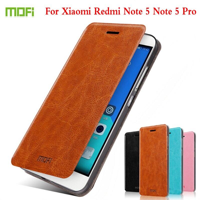 Mofi À Rabat En Cuir Pour Xiaomi Redmi Note 5 RedRice Note5 Cas De Haute Qualité De Téléphone Portable Pour Redmi Note 5 Pro Housse de Support