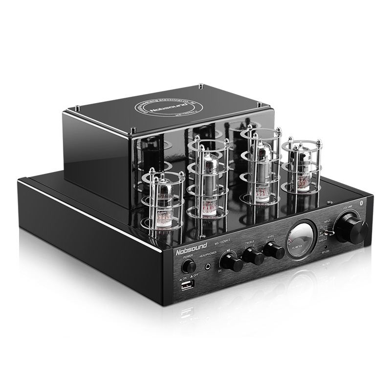 Nobsound MS-10D/MS-10DMKII HiFi 2.0 Home Audio Tube Amplifier Input USB/BT/AUX Headphone Amplifier 25W+25W 6P1*2+6N1*2 AC220V xege dc2 hifi stereo wireless bluetooth usb tube amplifier headphone amplifier 25w 25w