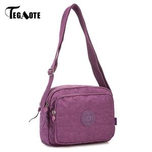 Image 2 - Tegaote wome sacos de ombro pequena bolsa feminina designer luxo marca aleta mini sólida praia crossbody saco bolso mujer náilon 2020