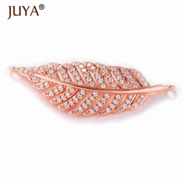 jewelry making supplies gold silver rose gold luxury zircon