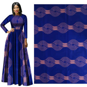 Me-dusa 2019 blue African Print Fabric 100% cotton