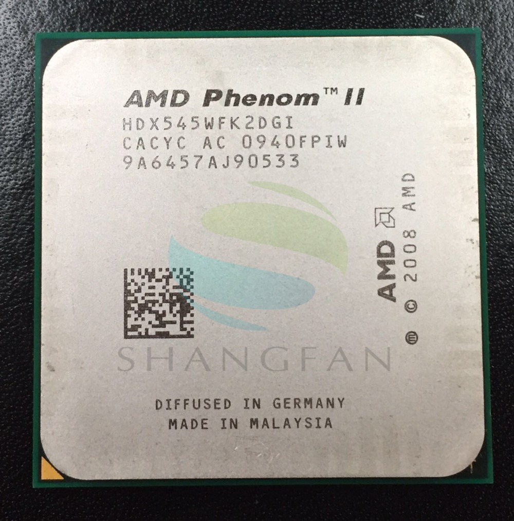 AMD Phenom II X2 545 3.0GHz Dual-Core CPU Processor HDX545WFK2DGM HDX545WFK2DGI 80W Socket AM3 938pin