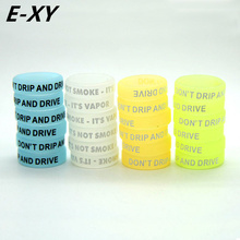 E-XY 200pcs/ lot Noctilucent Silicon Vape Ring Non-Skid MOD Silicone Ring For Mechanical Mods E Cigarette Accessories