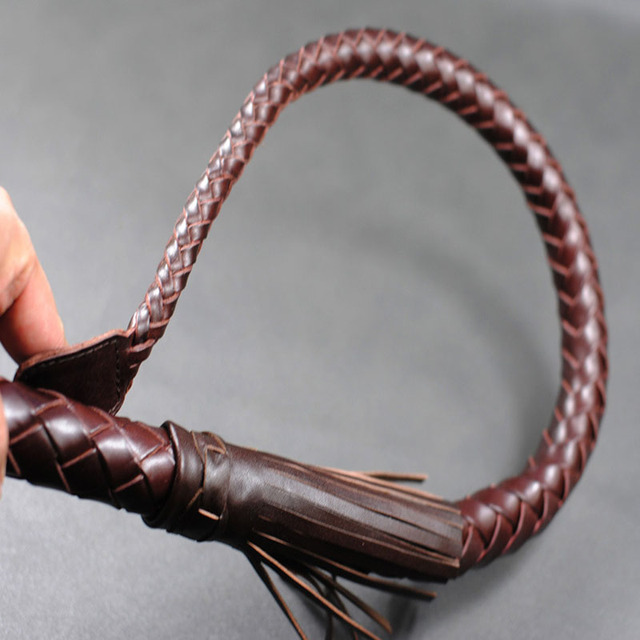 100 cm Handmade Braided Horse Whips Flogger For Horse Racing Genuine Leather Equestrian Horse Riding Whip Equestrian Equipment