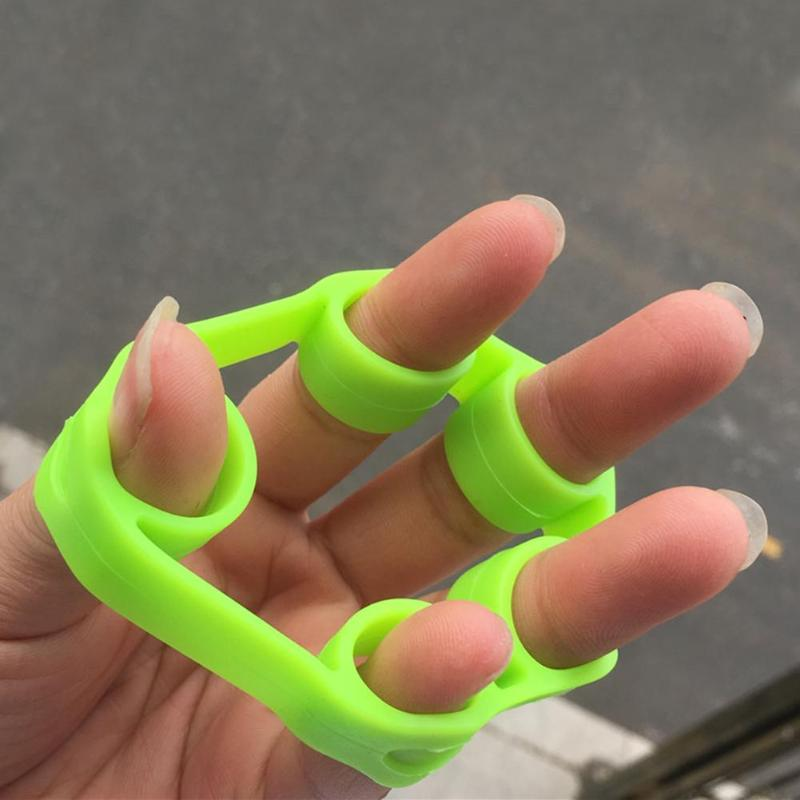 Silicone Finger Gripper Stretcher Resistance Band Exerciser PVC Hand Gripper Ring Grip Trainer Fitness Equipment 5 Colors
